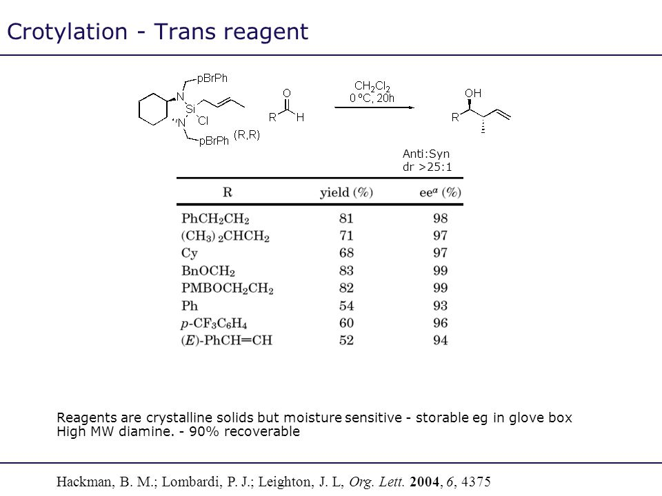Crotylation - Trans reagent