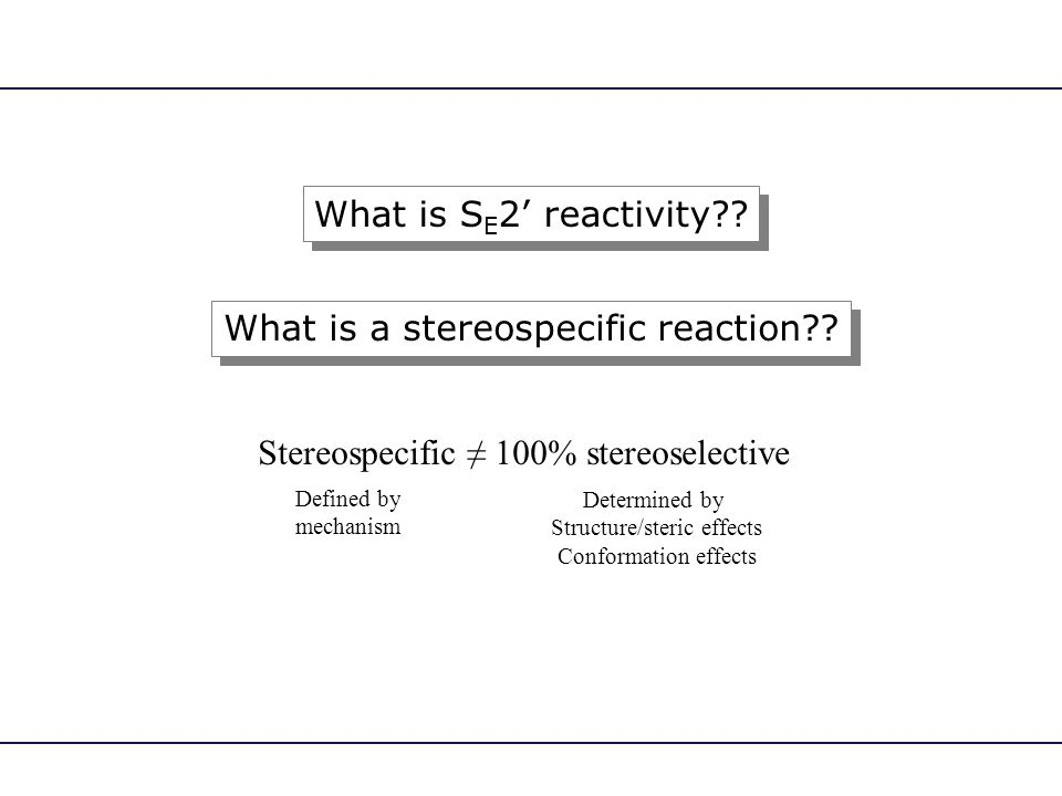 What is a stereospecific reaction