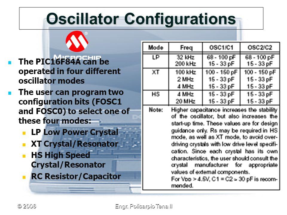 Oscillator Configurations