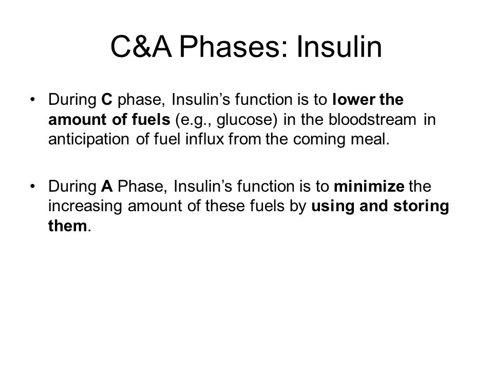 C&A Phases: Insulin