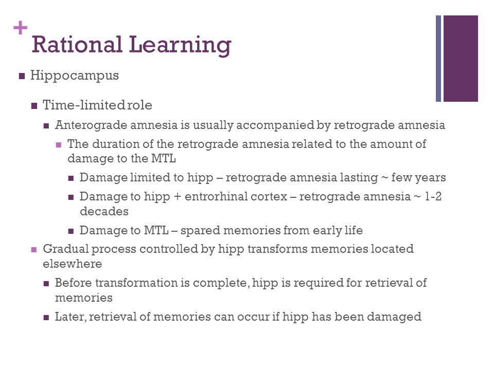 Rational Learning Hippocampus Time-limited role