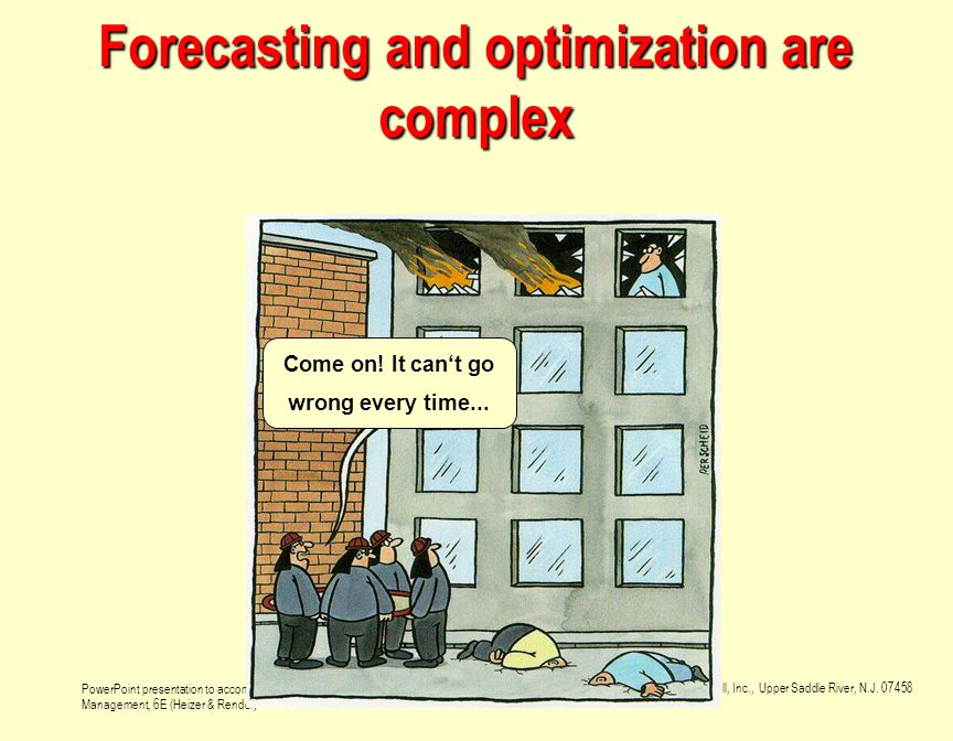 Forecasting and optimization are complex