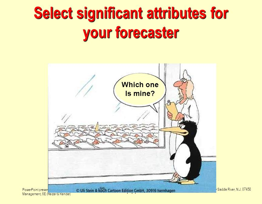 Select significant attributes for your forecaster