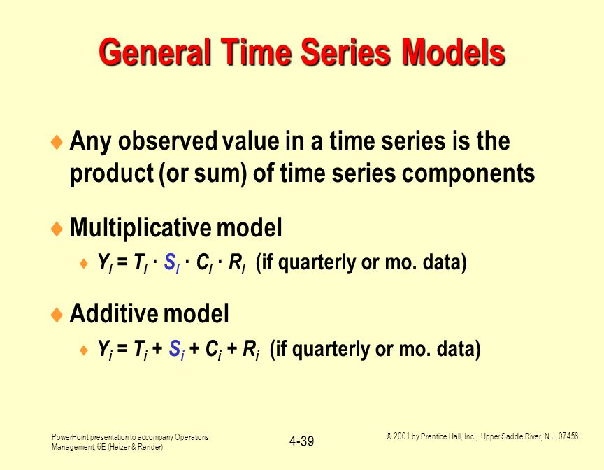 General Time Series Models