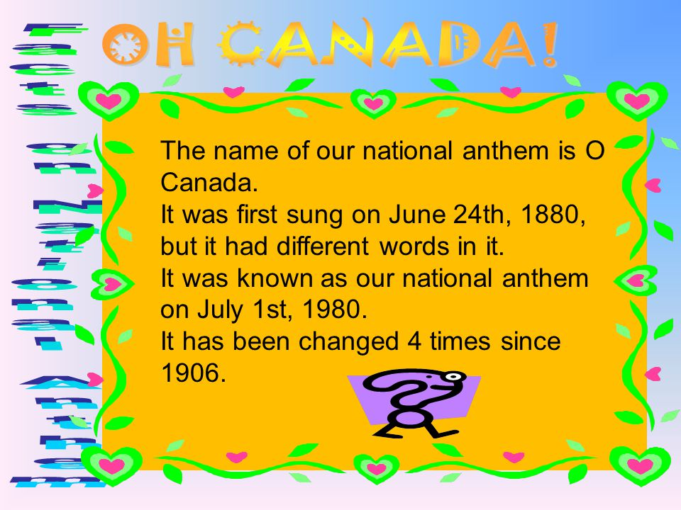 Facts on National Anthem