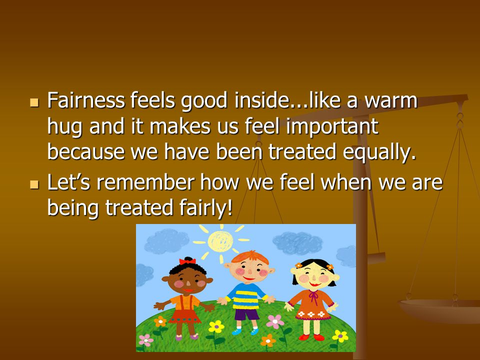 Fairness feels good inside
