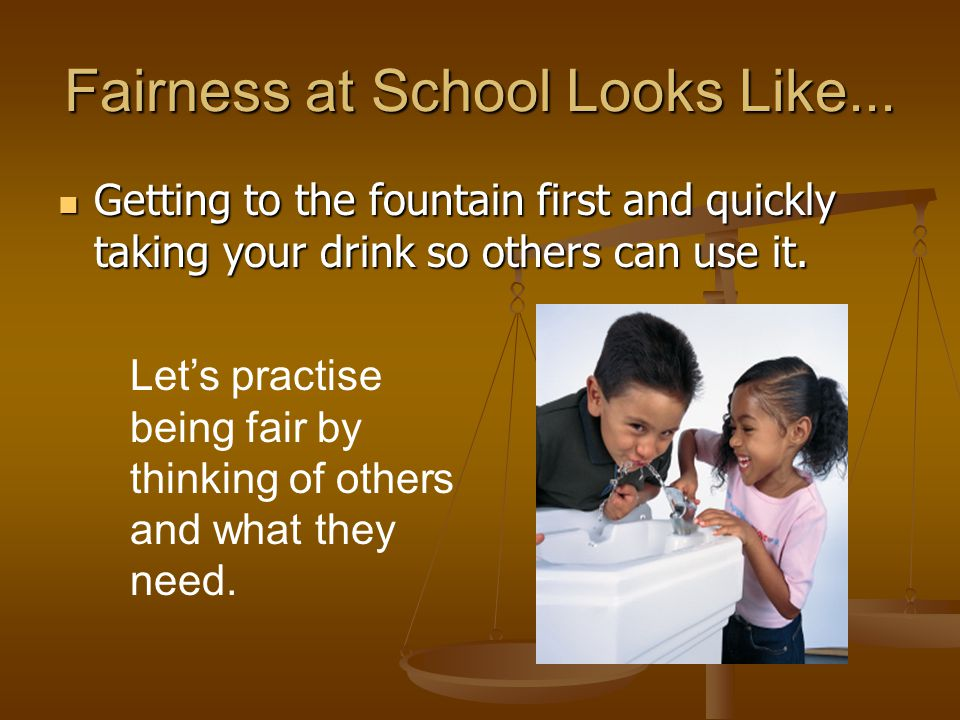 Fairness at School Looks Like...