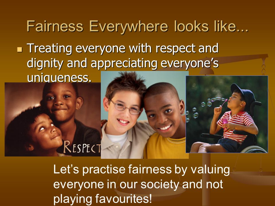 Fairness Everywhere looks like...