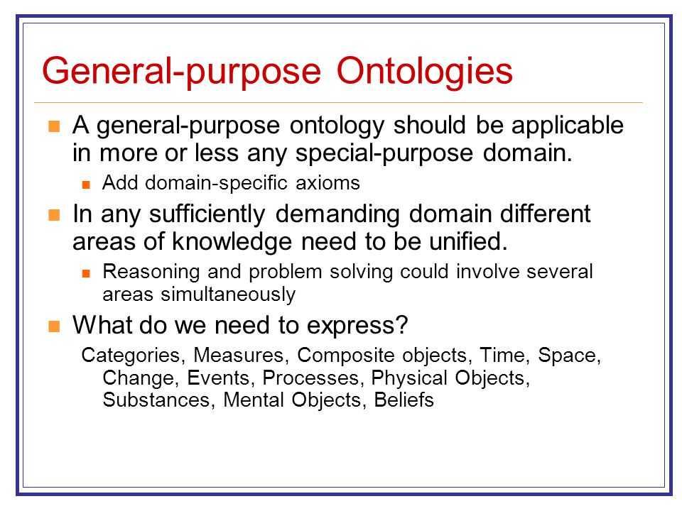 General-purpose Ontologies