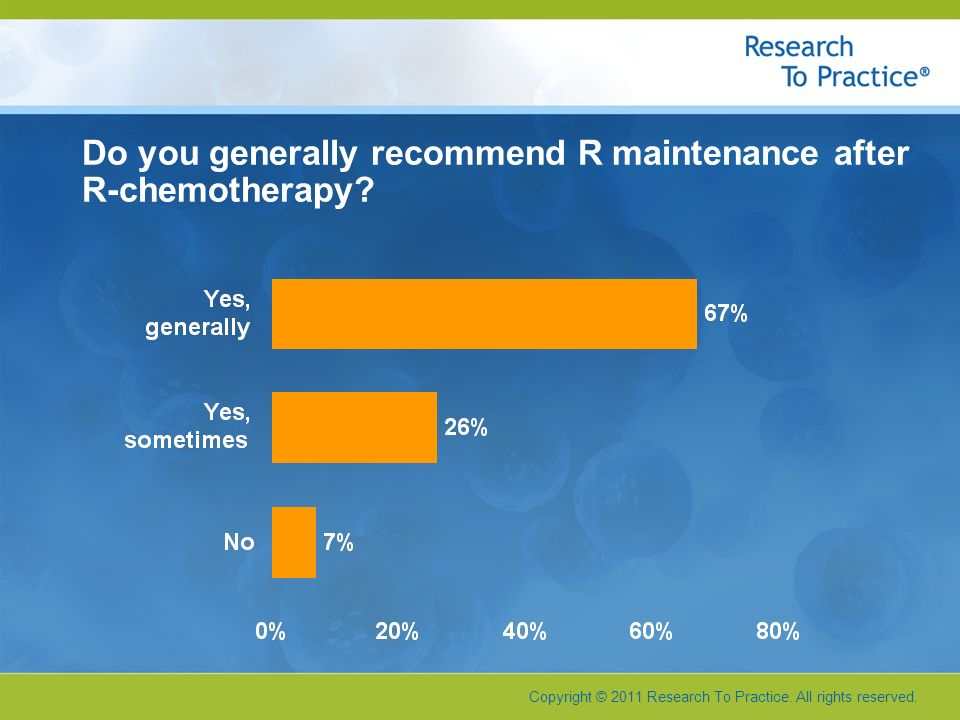 Do you generally recommend R maintenance after R-chemotherapy