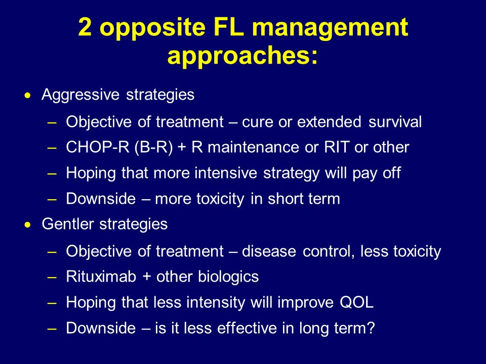 2 opposite FL management approaches: