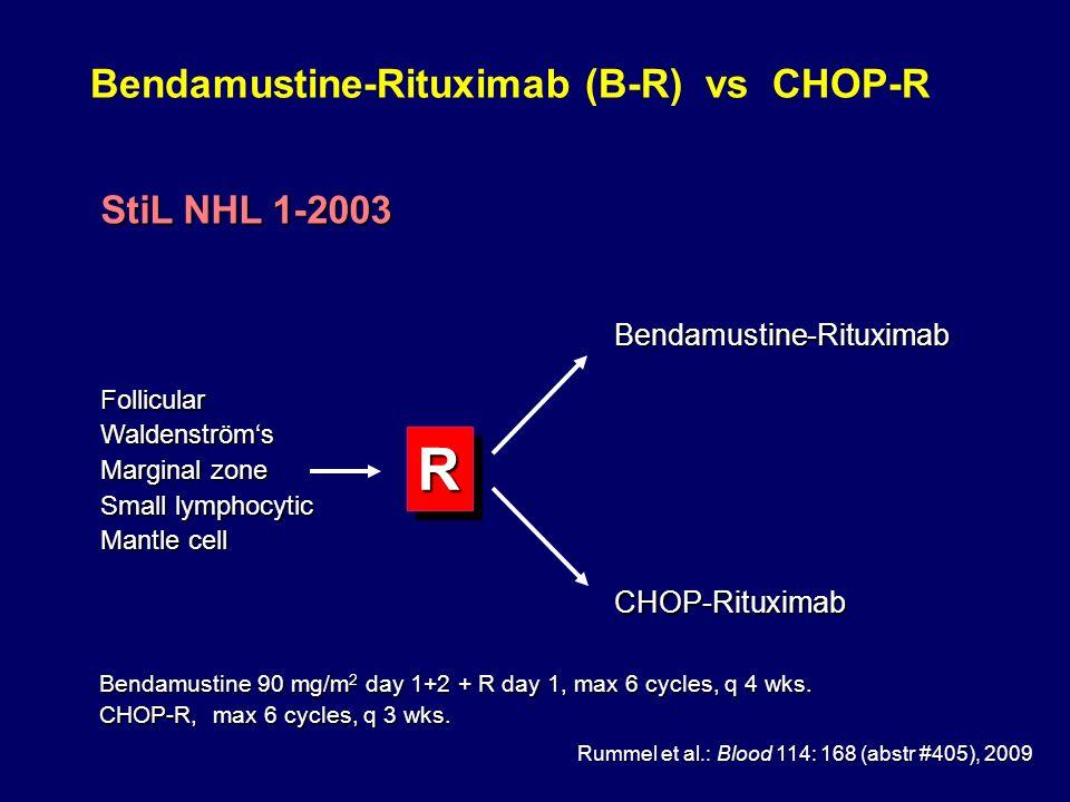 Bendamustine-Rituximab (B-R) vs CHOP-R