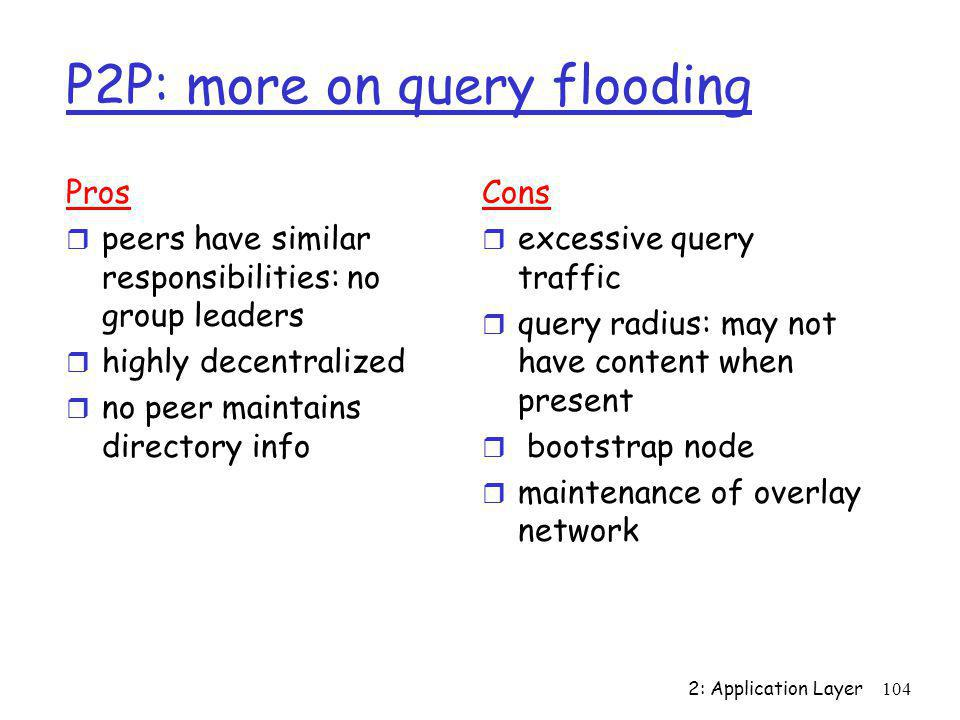 P2P: more on query flooding