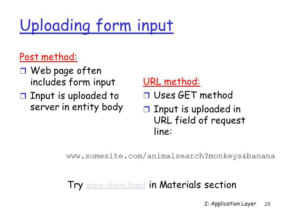 Try www-form.html in Materials section