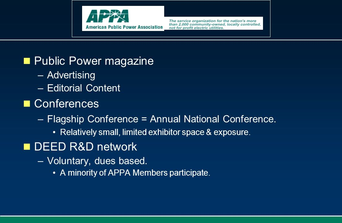 Public Power magazine Conferences DEED R&D network Advertising