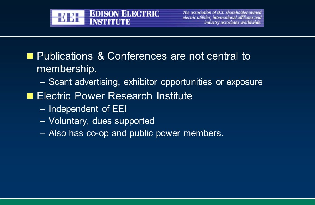 Publications & Conferences are not central to membership.