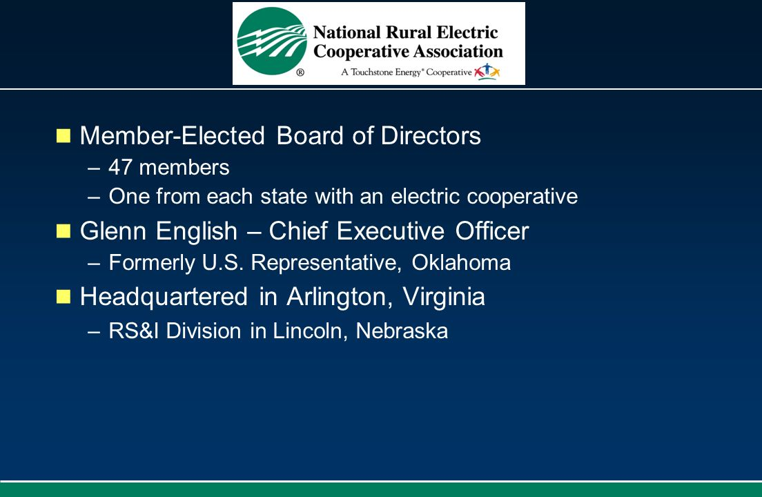 Member-Elected Board of Directors