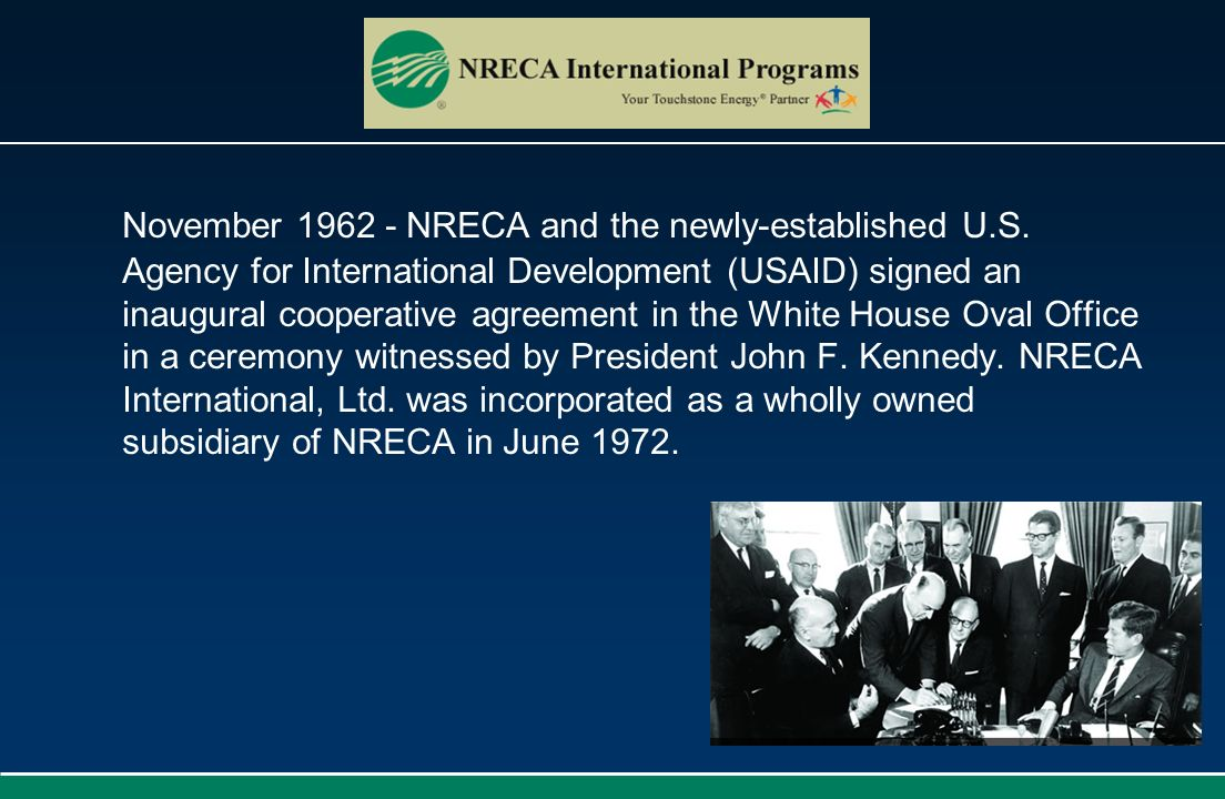 November 1962 - NRECA and the newly-established U. S