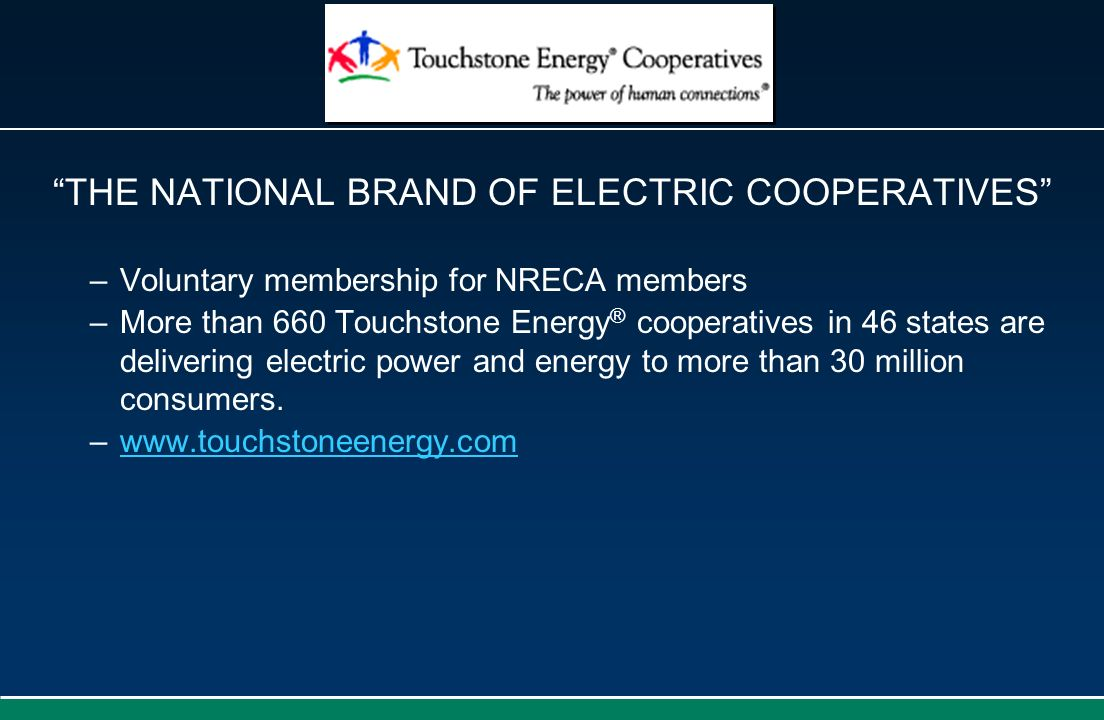 THE NATIONAL BRAND OF ELECTRIC COOPERATIVES