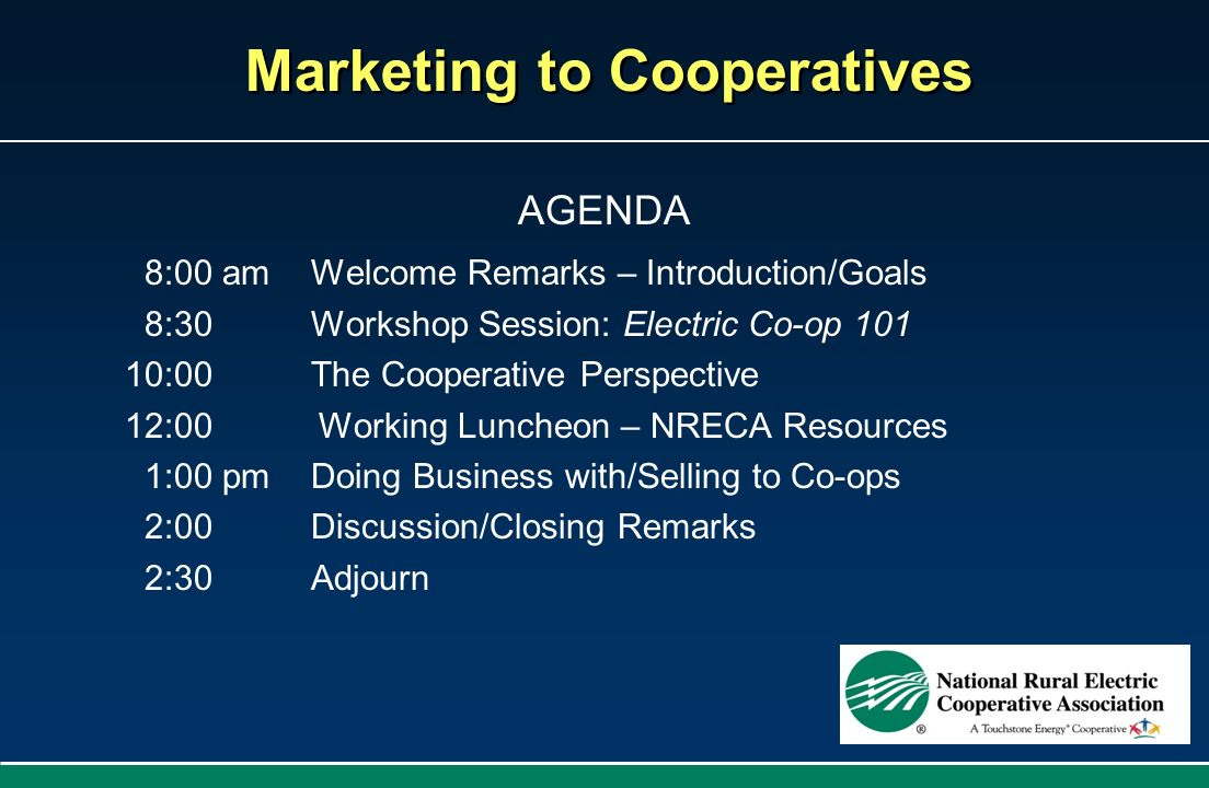 Marketing to Cooperatives