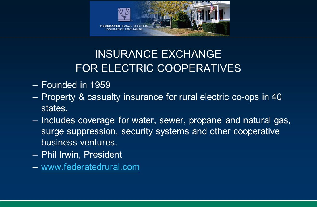 FOR ELECTRIC COOPERATIVES