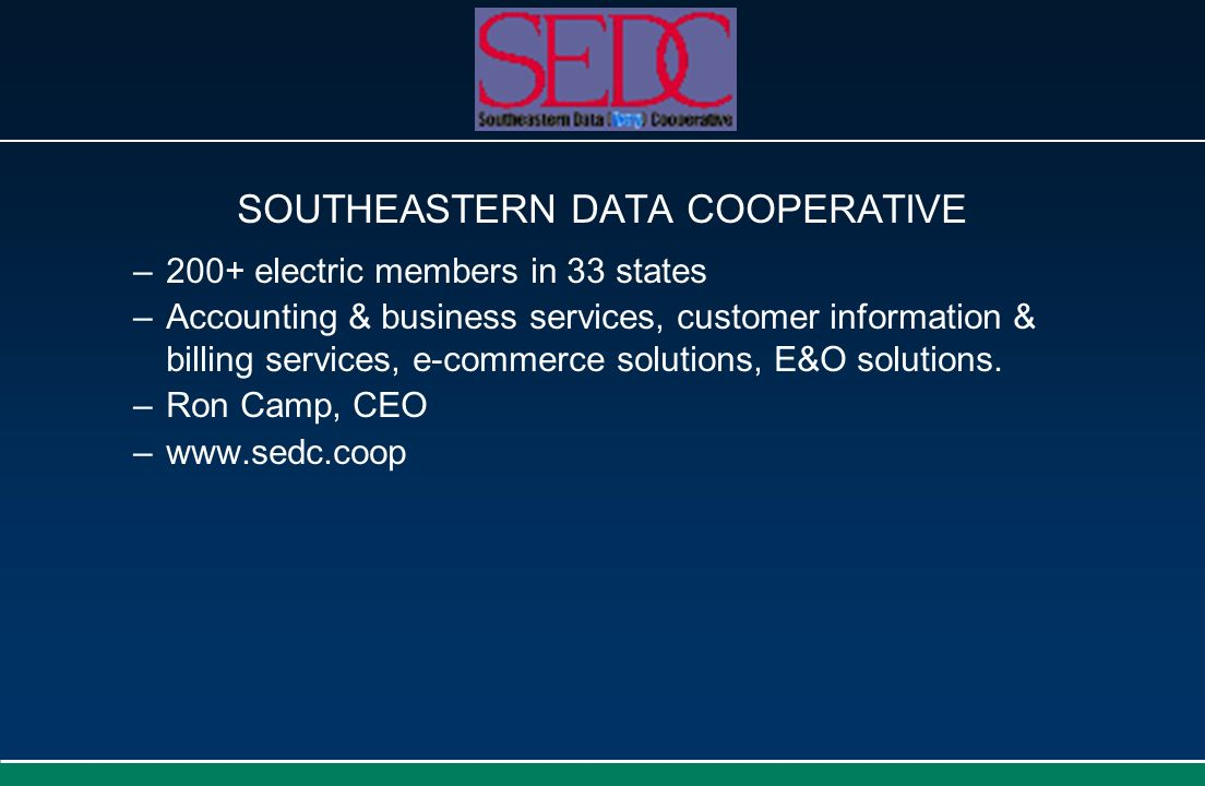 SOUTHEASTERN DATA COOPERATIVE