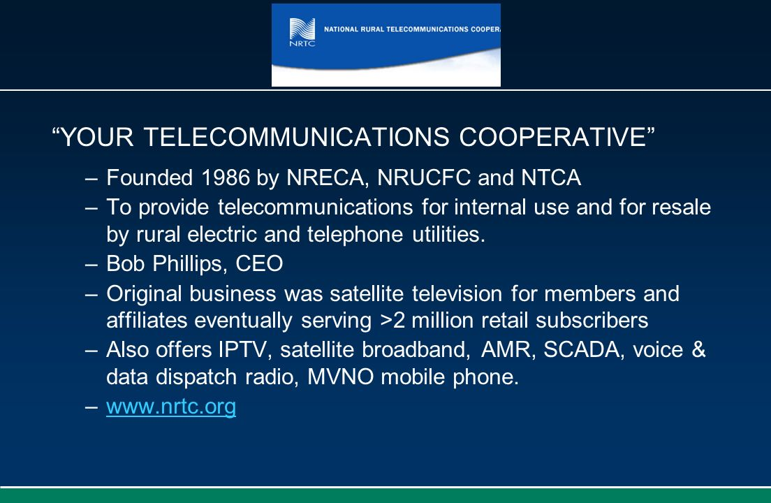 YOUR TELECOMMUNICATIONS COOPERATIVE