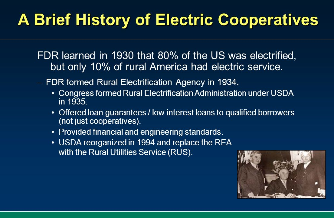 A Brief History of Electric Cooperatives