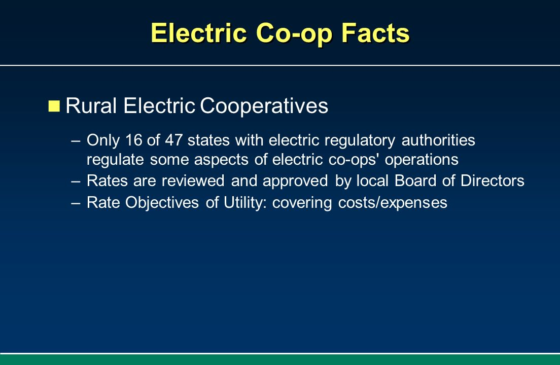 Electric Co-op Facts Rural Electric Cooperatives