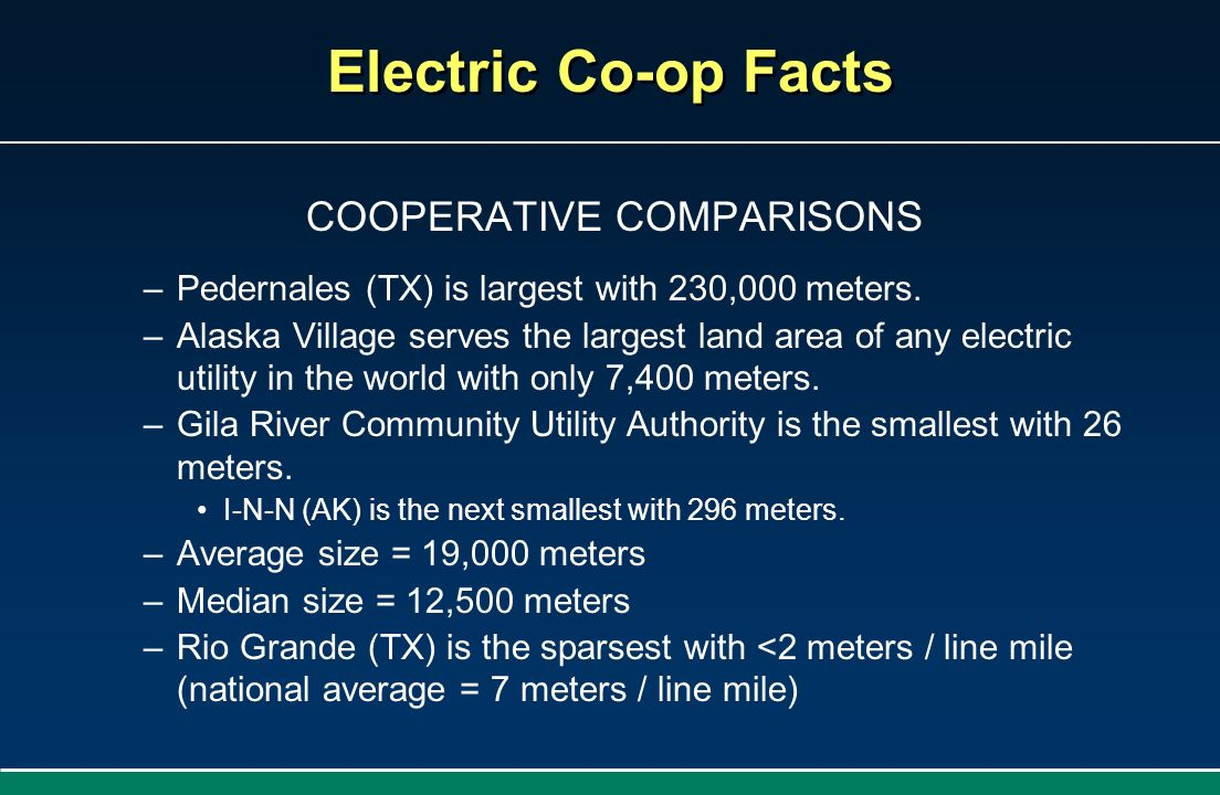 COOPERATIVE COMPARISONS