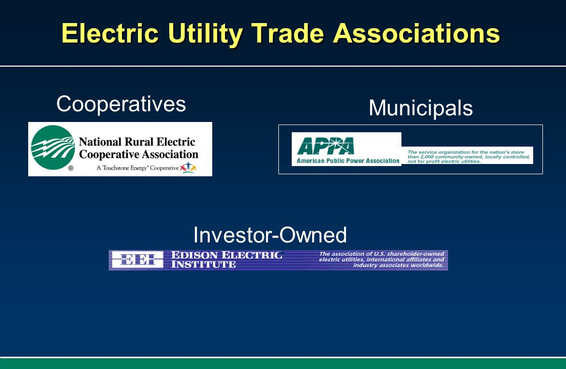 Electric Utility Trade Associations