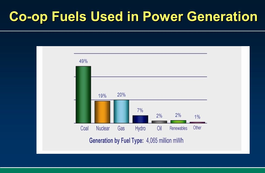 Co-op Fuels Used in Power Generation