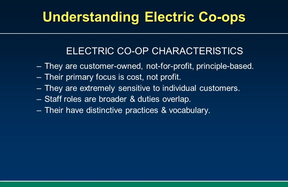 Understanding Electric Co-ops