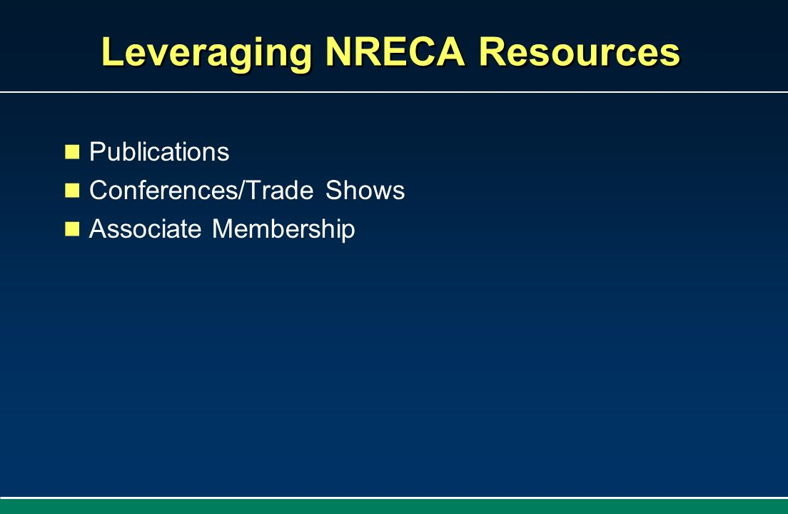 Leveraging NRECA Resources