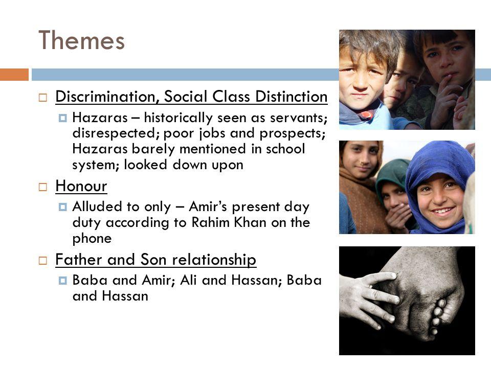 Themes Discrimination, Social Class Distinction Honour