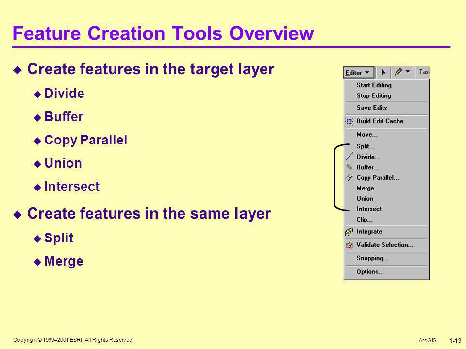 Feature Creation Tools Overview