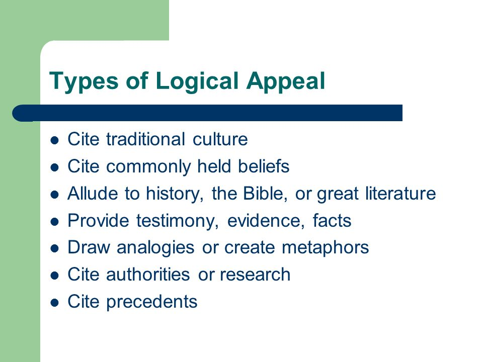 Types of Logical Appeal