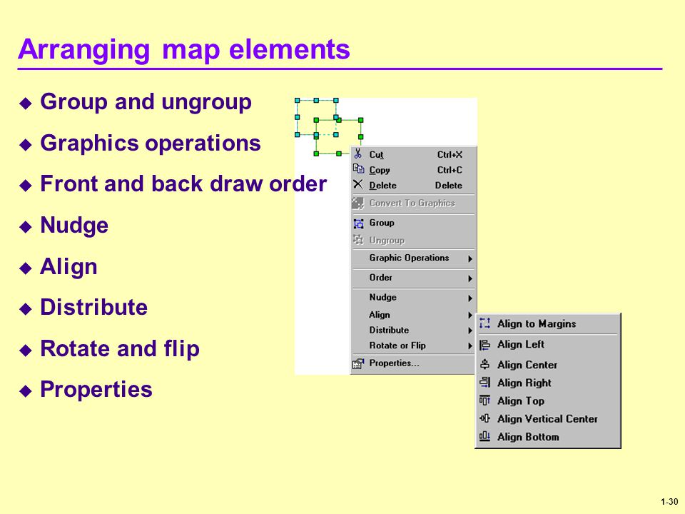Arranging map elements
