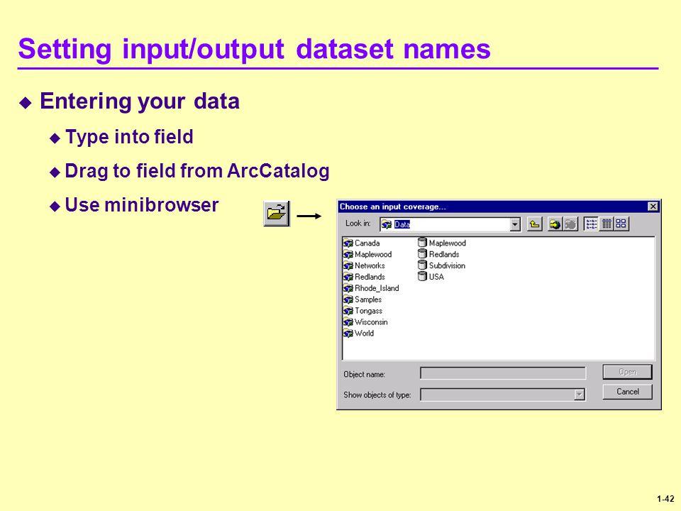 Setting input/output dataset names