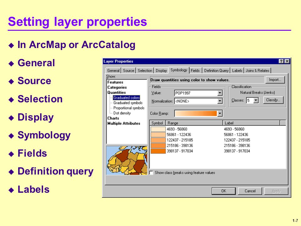 Setting layer properties