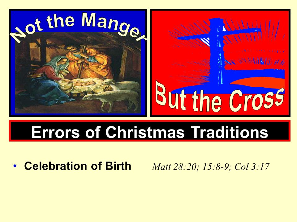 Errors of Christmas Traditions