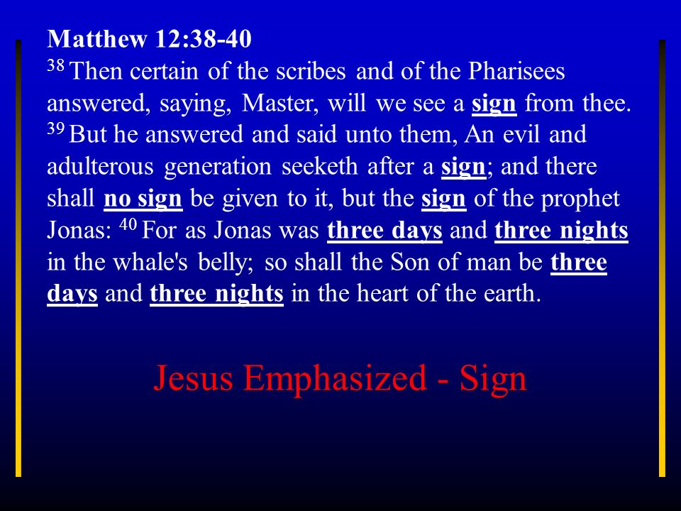 Jesus Emphasized - Sign