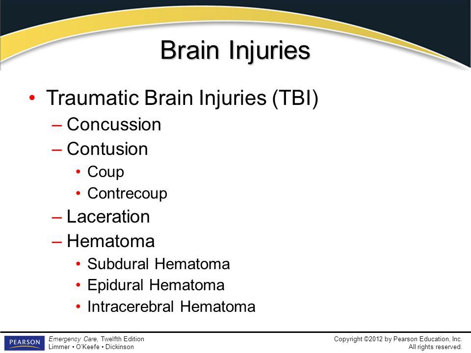 Brain Injuries Traumatic Brain Injuries (TBI) Concussion Contusion