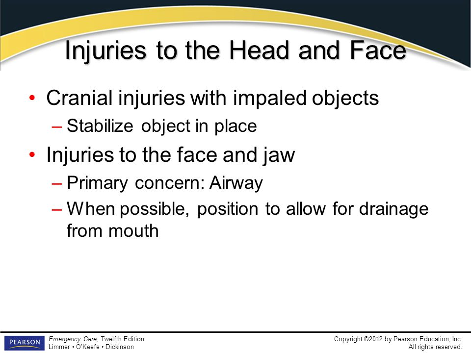Injuries to the Head and Face