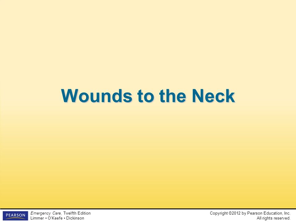 Wounds to the Neck Teaching Time: 15 minutes