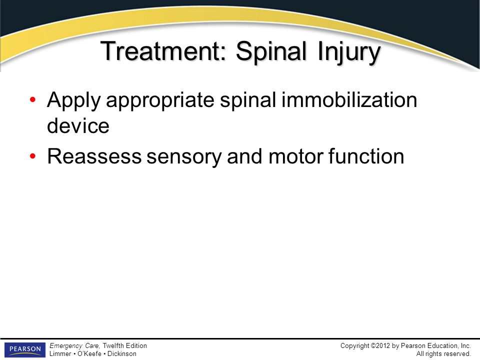 Treatment: Spinal Injury
