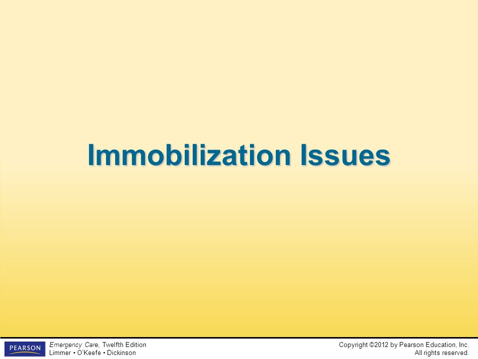 Immobilization Issues