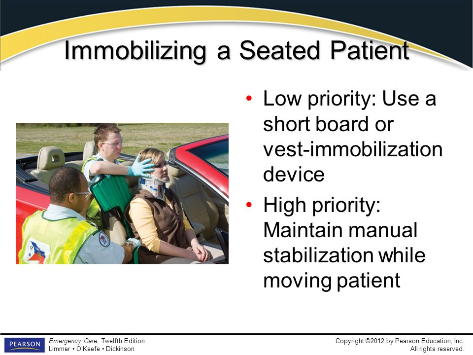 Immobilizing a Seated Patient