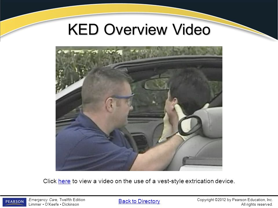 KED Overview Video Video Clip. KED Overview. Discuss when it is appropriate to use a KED.