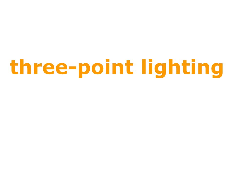 three-point lighting